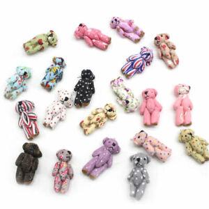 Mini Fabric Teddy Bears Ideal Party Bags/Gift/Wedding/Favor/Baby Shower/Keepsake
