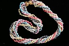 "Fresh Water Pearl Necklace with Seven Strands in Stunning Spring Colors, 18""!"