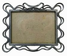 """Photo Picture Frame Free Standing 5"""" x 6½"""" Pewter Style Ribbon Bow"""