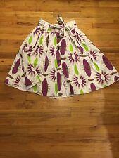 Zara Basic Skirt Purple Floral Linen Women