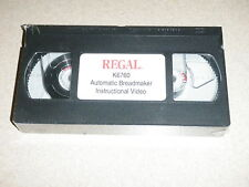 Regal Bread Machine Instructional Video (ONLY) VHS NEW And SEALED K6760 (BMPF)