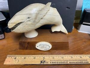 Whale tooth Scrimshaw by K D Speague