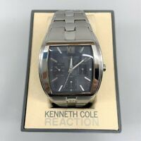 Kenneth Cole New York watch silver for men, pre-owned, new battery, with box