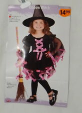 Toddler Ribbon Witch Halloween Costume Small 24 month-2T Dress Up  Dress Hat NEW