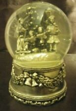 Antique silver plated musical water globe
