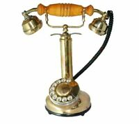 Antique Style Rotary Dial Maharani Phone Queen Telephone Brass