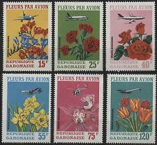 Gabon Scott #C109-C111 15fr-120fr flowers airmail (1971)