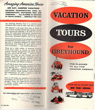 Vacation Tours by Greyhound Vintage 1950's Brochure Rates General Information