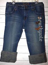 SOUTHPOLE Sz 15 Junior's Denim Medium Washed Jeans Capris Pants 4 Pockets