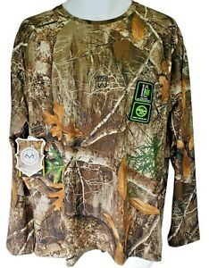 RealTree EDGE Scent Control Camo Long Sleeve Tee Shirt UVF INSECT Repel Size S
