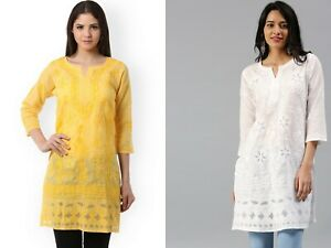 Raksha Bandhan Lucknawi Chikankari Cotton Kurti Ethnic Party Wear Fancy Kurta