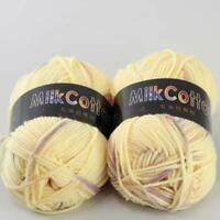AIP Soft Baby Cotton Yarn New Hand dyed Wool Socks Scarf Knitting 2Skeinsx50g 08