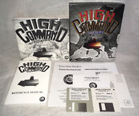 """1993 """"High Command"""" IBM PC Game 3.5"""" Disks Complete In Big Box!"""