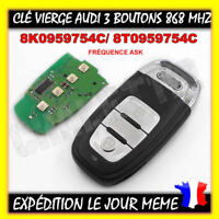 Smart KEY Clé Contact Audi A4 Q5 A5 868mhz 100% Testé