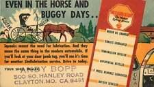 Automobile Service Reminder Postcard, Shell Oil, Clayton, Missouri ca '30s-'40s