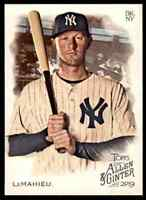 2019 TOPPS ALLEN & GINTER DJ LEMAHIEU NEW YORK YANKEES #266