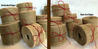 Natural Rustic Jute Burlap Hessian Ribbon Weddings Belting Strap Craft Floristry