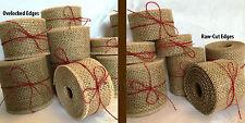 Natural Rustic Jute Burlap Hessian Ribbon Weddings Belting Strap Craft Floristry