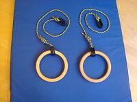Wood Gym  Rings (pair)
