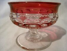 TIFFIN KINGS CROWN RUBY FLASHED 5 CHAMPAGNE  SHERBERTs THUMBPRINT #4016
