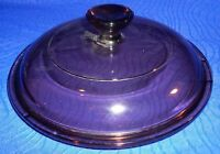 "Vintage Dark Casserole Dish Cover by Pyrex 5 1/2"" Diameter, #V1C"