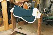 Black Half Pad w Pommel Roll Engel Sheepskin Saddle Blanket English Tack