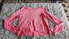 Hollister Cute Pink Medium Off Shoulders Knit Top Sweatshirt