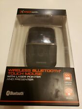 BlackWeb Wireless Bluetooth Touch Mouse w/Laser Pointer & Presenter NEW