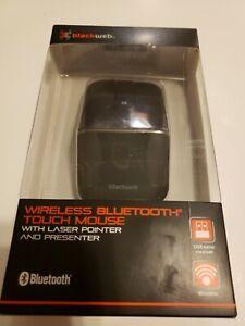 BlackWeb Wireless Bluetooth Touch Mouse w/Laser Pointer & Presenter NEW