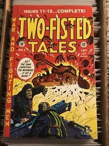 TWO-FISTED TALES vol 3 EC COMICS 11 12 13 14 15 1995 pre-code military war comic