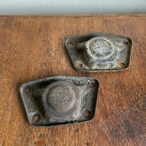 Porsche 356 Torsion Bar Cover Pair Without Center Hole Spring Plate