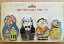 Disney DSF UP Nesting Doll 4pc Trading Pins House Carl Russel Dug Pixar DSSH NEW