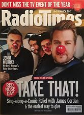 Radio Times Magazine Take That Gary Barlow Mark Owen James Corden Jenni Murray