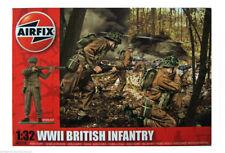 Unpainted Plastic British 1:32 Toy Soldiers