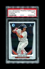 2014 Mookie Betts Bowman Prospects #bcp109 Chrome Red Sox PSA 9