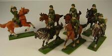 7 Antike Soldaten zu Pferd aus dem Erzgebirge vor 1945