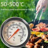 Barbecue BBQ Smoker Grill Thermometer Temperaturanzeige Edelstahl 50-500 C S7L6