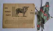 Vintage Parker Brothers Pin The Tail On The Donkey Party Game