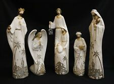 """Nativity Set 18"""" Large 5 Pieces Polyresin Set, New in Box, Baby Jesus, Christmas"""