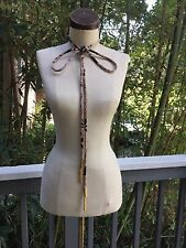 Vintage AVERADO BESSI Belt Brown Black Gold Tassel