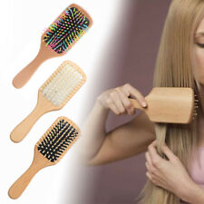 Women Men Massage Comb Anti-static Paddle Hair Care Spa Wood Brush Gasbag