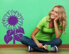 Sun Flower  - highest quality wall decal stickers