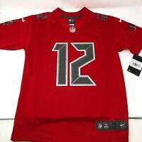 Nike Tom Brady #12 Tampa Bay Buccaneers Vapor Jersey Red Youth Medium