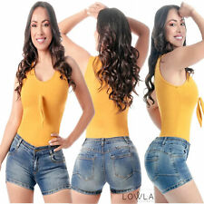 Colombianas Butt Lifter Classy Denim Jeans ABS Control Shorts Blue Levanta Cola