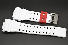 16MM WHITE RED RUBBER WATCH BAND CASIO GSHOCK GA300 GA100 GW8900 GA120 GD110