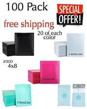 100 000 4x8 Poly Assorted Bubble Envelopes Mailers Fast Shipping 20 Of Each