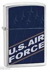 US AIR FORCE ZIPPO LIGHTER #24827 Brushed Chrome - NEW