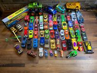 Mixed Lot of 60+Hot Wheels Matchbox Loose Diecast & Plastic Cars Trucks Vehicles