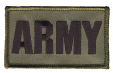 """ARMY - 2"""" x 3"""" Hook & Loop 2 Piece OD Green Patch 73453"""