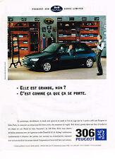 PUBLICITE ADVERTISING 104 1995  PEUGEOT 306  EDEN PARK